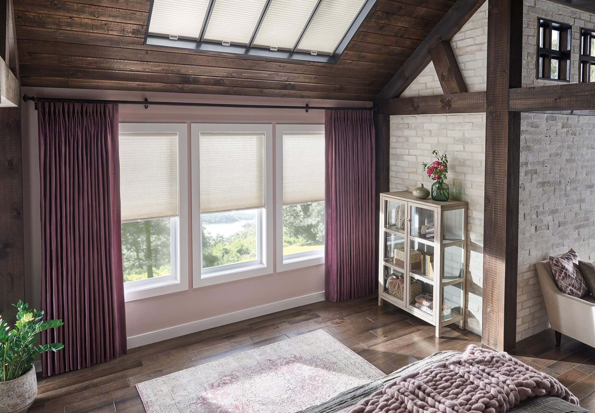 Skylights are stunning, but may need to be covered from time to time.