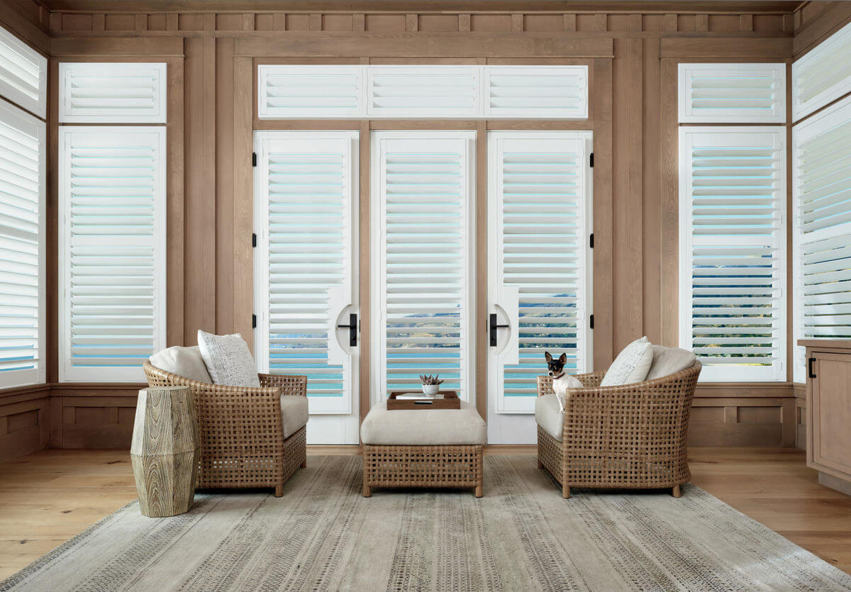 Transom windows are small, decorative windows that are above the transom beam of doors or windows.