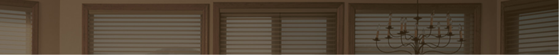 custom window shades in a dining room
