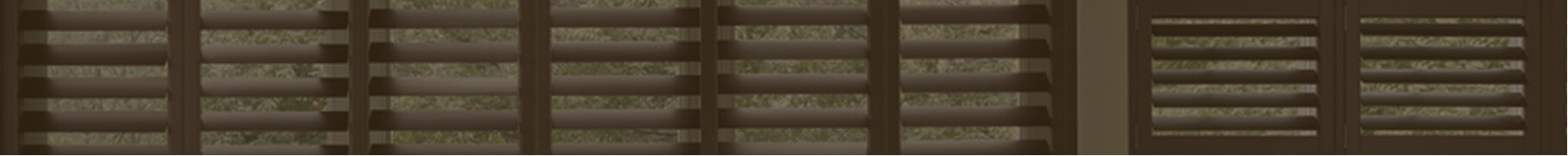 brown custom window shutters