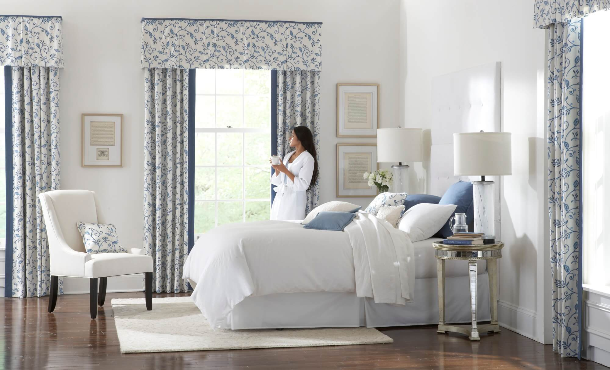 Custom Bedding for Winter Decor