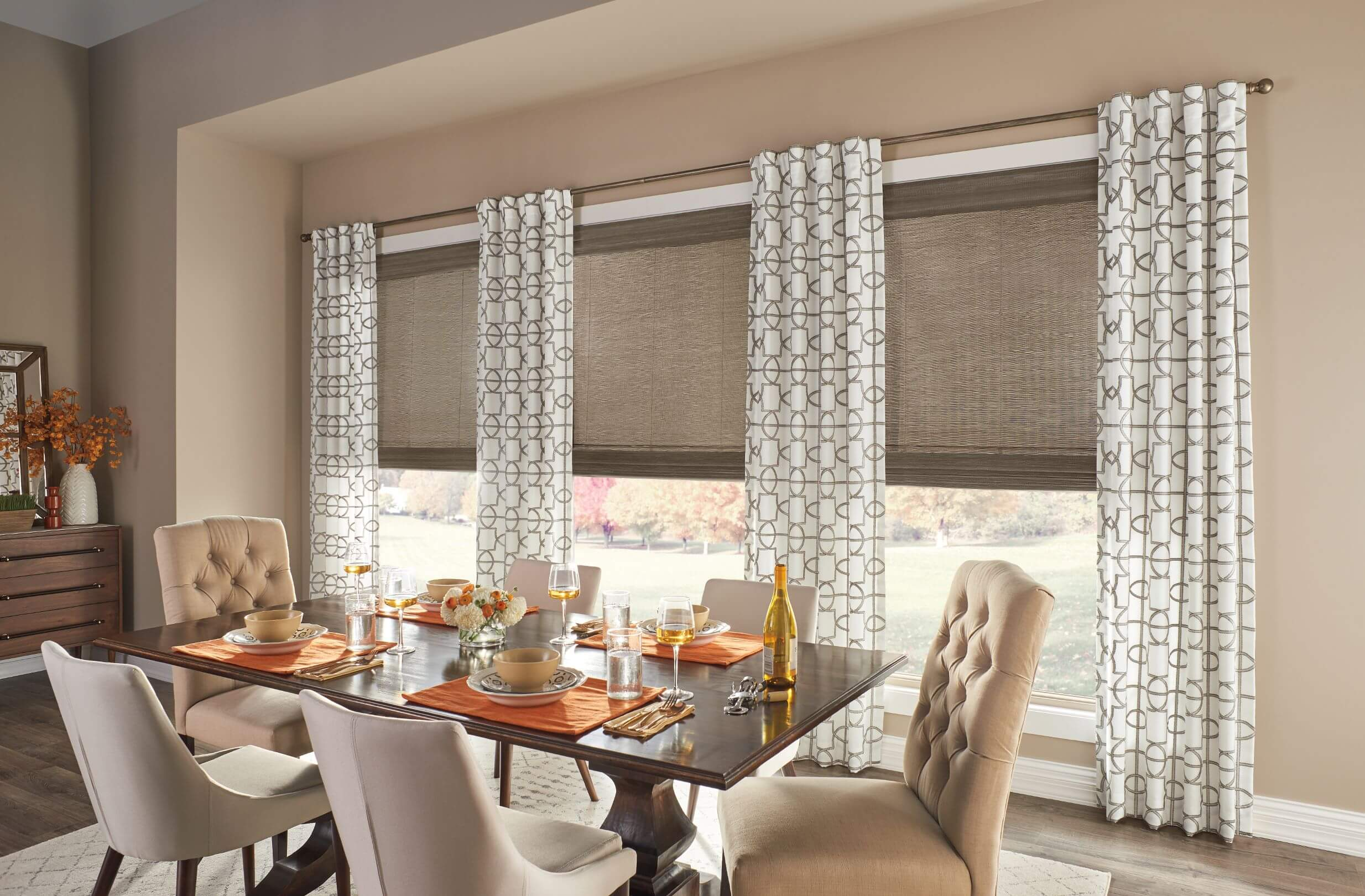 Layered Window Treatments for Winter Decor
